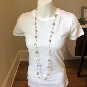 Shell Pearl Bead Long Necklace